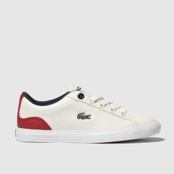 Lacoste White & Red Lerond Boys Junior