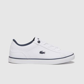 Lacoste White & Navy Lerond Boys Junior#