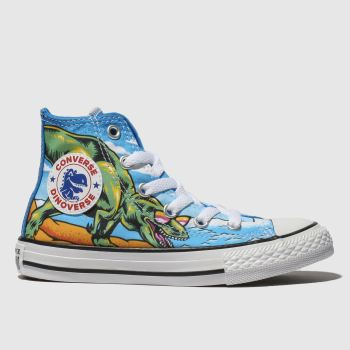 Converse Blue Chuck Taylor All Star Dino Hi Boys Junior
