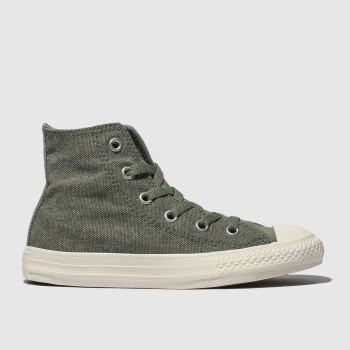 Converse Khaki Chuck Taylor All Star Hi Boys Junior