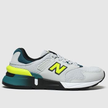 New Balance Grey & Lime 997 Boys Junior