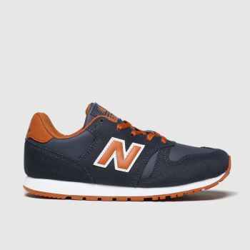 New Balance Navy & Orange 373 Boys Junior