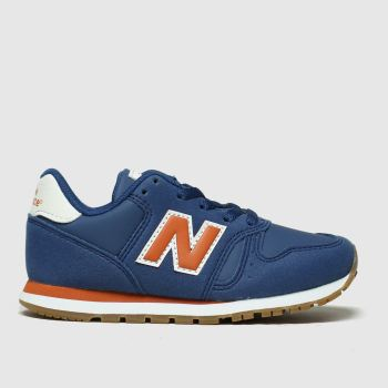new balance navy 373 trainers junior
