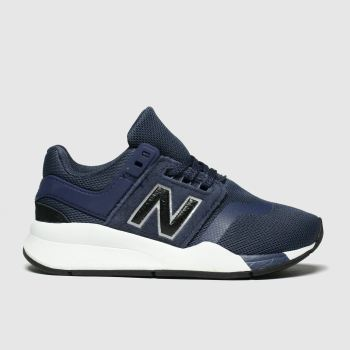 new balance navy & black 247 trainers junior
