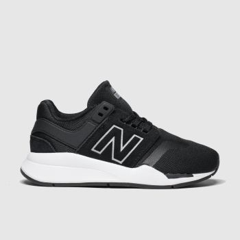 New Balance Black & White 247 Boys Junior