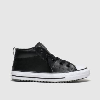 Converse Black All Star Mid Street Boys Junior