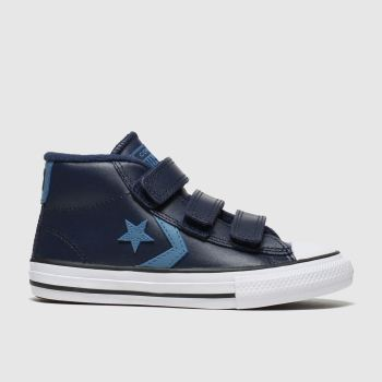 Converse Navy Star Player 3v Mid Boys Junior
