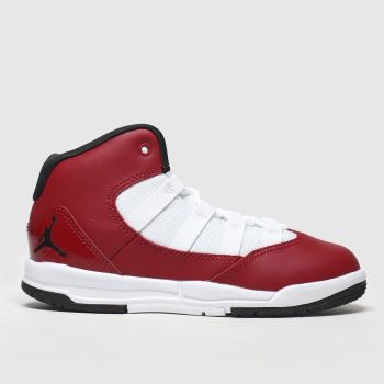 Nike Jordan White & Red Max Aura Boys Junior