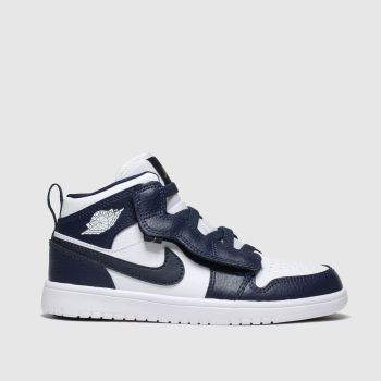 Nike Jordan Navy & White Jordan 1 Mid Alt Boys Junior