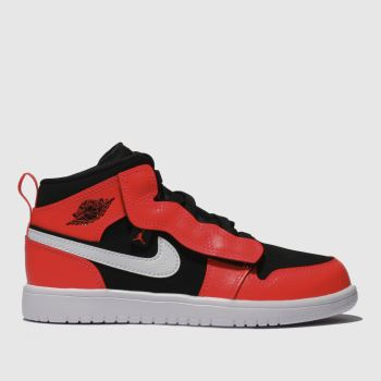 Nike Jordan Black & Red 1 Mid Boys Junior