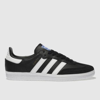 Adidas Black & White SAMBA OG Boys Junior