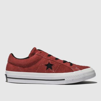 Converse Red One Star Lo Boys Junior
