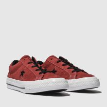 7c6a008978d Boys red converse one star lo trainers
