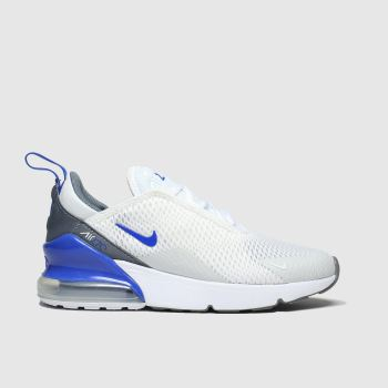 Nike White & Blue Air Max 270 Boys Junior