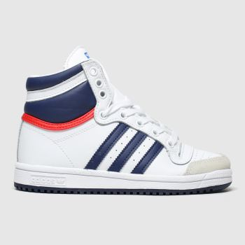 Adidas White & Blue Top Ten Hi Boys Junior