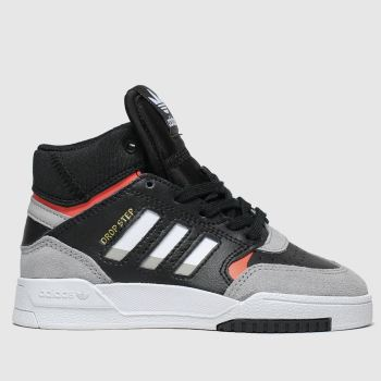 Adidas Black & Grey Drop Step Boys Junior