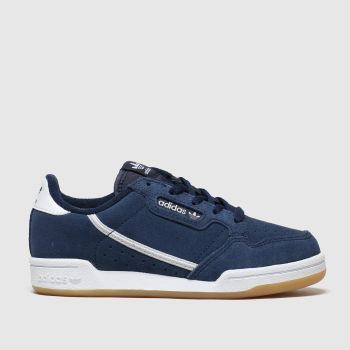 Adidas Navy & White Continental 80 Boys Junior