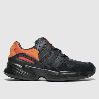 Adidas Black & Orange Yung 96 Boys Junior
