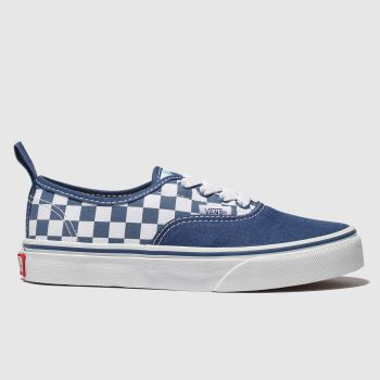 Vans Navy & White Authentic Elastic Lace Boys Junior