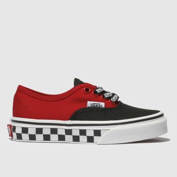 Vans Black & Red AUTHENTIC LOGO POP Boys Junior