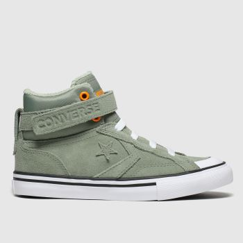 Converse Khaki Pro Blaze Strap Space Ride Hi Boys Junior