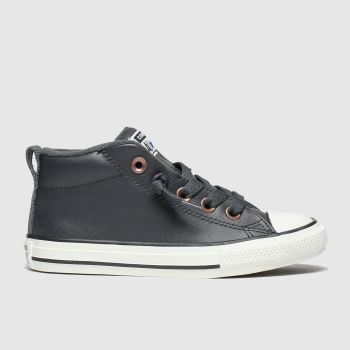 converse black all tars street red rover trainers junior