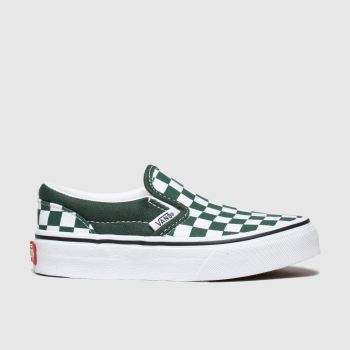 Vans Dark Green Classic Slip-on Boys Junior