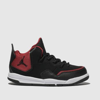 Nike Jordan Black & Red Courtside 23 Boys Junior