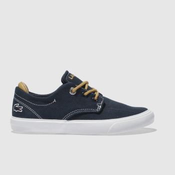 LACOSTE NAVY ESPARRE TRAINERS JUNIOR
