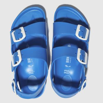 birkenstock blue milano eva sandals junior