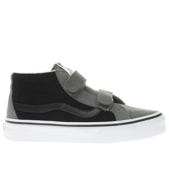VANS GREY SK8-MID BOYS JUNIOR TRAINERS