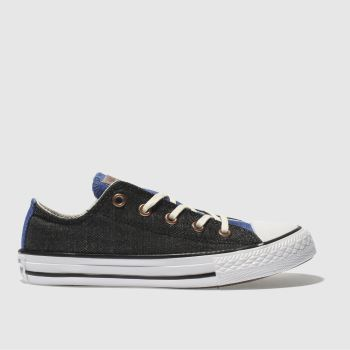 Converse Black and blue CHUCK TAYLOR ALL STAR LO Boys Junior
