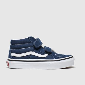 Vans Navy Sk8-mid Reissue V Boys Junior