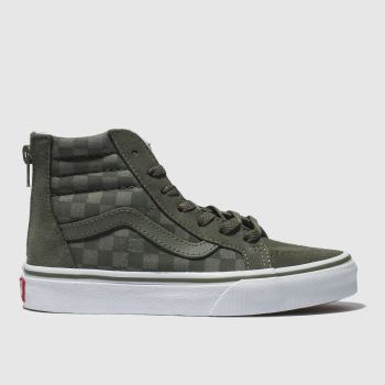 68d29f2628 Vans Khaki Sk8-Hi Zip Boys Junior