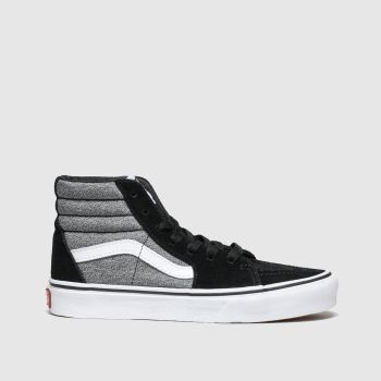 Vans Black & Grey Sk8-Hi Zip Boys Junior