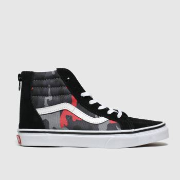 Vans Black & Red Sk8-hi Zip Boys Junior