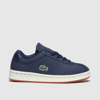 Lacoste navy & orange masters trainers junior