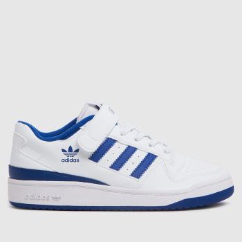 adidas White & Blue Forum Low Boys Junior