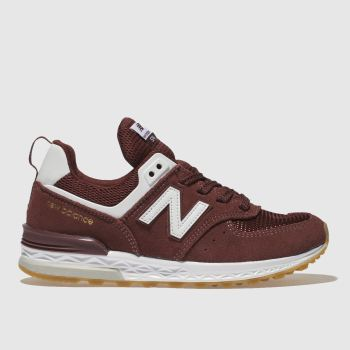 New Balance Burgundy 574 Sport Boys Junior