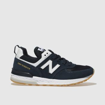 New Balance Navy & White 574 SPORT Boys Junior