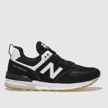 New Balance Black & White 574 Sport Boys Junior