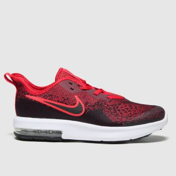 Nike Red Air Max Sequent 4 Boys Junior