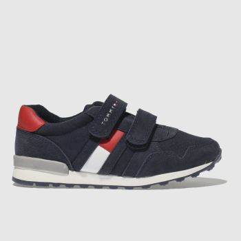 Tommy Hilfiger Navy & Red Velcro Sneaker Classic Boys Junior