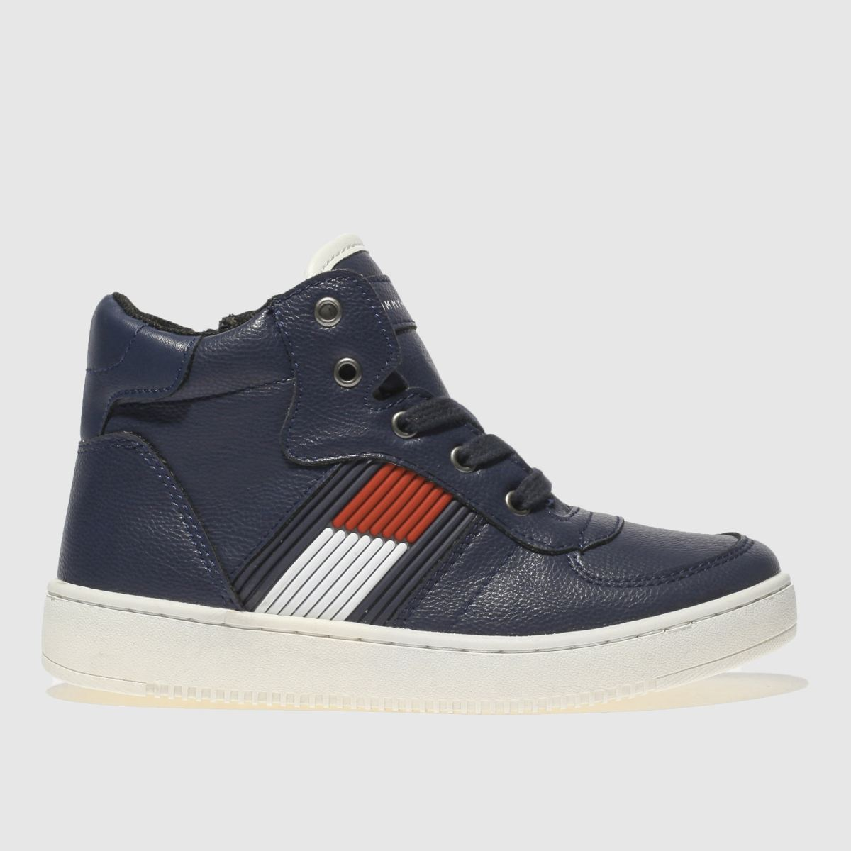 Tommy Hilfiger Navy & Red High Top Lace Up Sneaker Trainers Juni