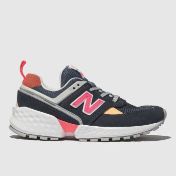 NEW BALANCE NAVY & WHITE 574 TRAINERS JUNIOR