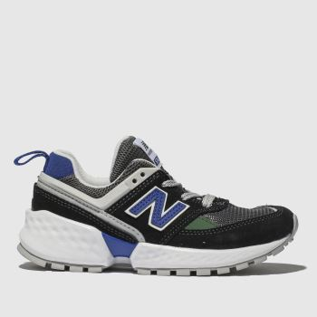 New Balance Black & Navy 574 Boys Junior