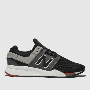 New Balance Black & Grey 247 Boys Junior