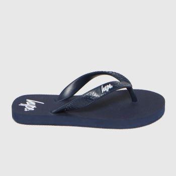 Hype Navy Flip Flops Boys Junior