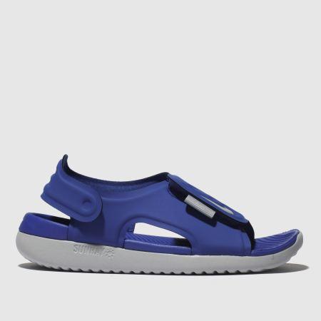 nike sunray adjust 5 purple Blue Sandal Youth Size 3 new