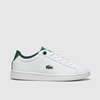 Lacoste White & Green Carnaby Evo c2namevalue::Boys Junior